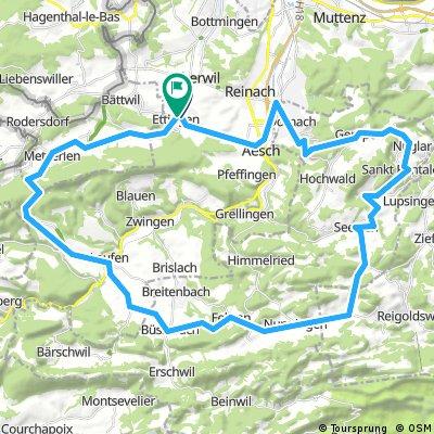 Ettingen-Gempen-Nuglar-Büren-Seewen-Fehren-Büsserach-Laufen-Röschenz-Metzerlen-Ettingen