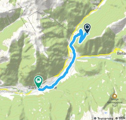 ride from Predazzo to Ziano di Fiemme