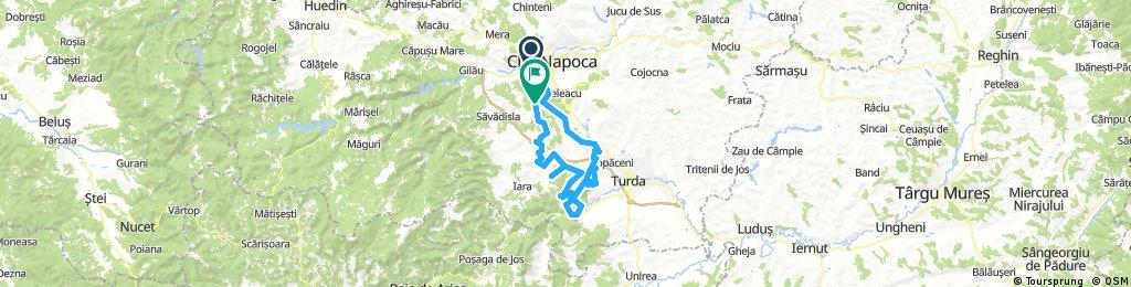 Faget - Casele Micesti - Tureni - Cheile Turzii - Cheile Borzesti - Borzesti - Livada - Plaiuri - Padureni - Prunis - Saliste - Faget