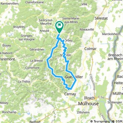 Route des Cretes and Grand Ballon - hard