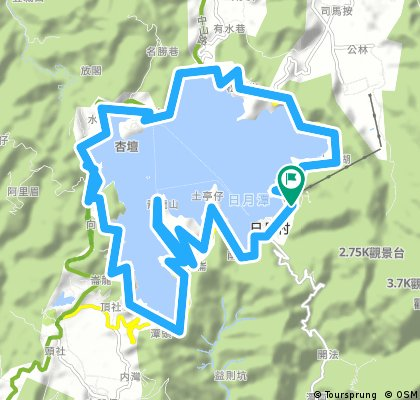 Biking Taiwan cycling around Sun Moon Lake