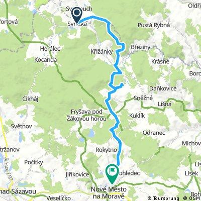 Svratka - Nové Město na Moravě, pěšky