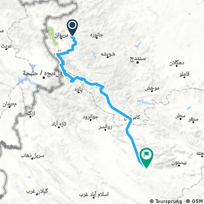 12 - Marivan - Kermanshach (272 km, 5100 m)