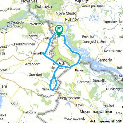 Vígľašská - Nickelsdorf - Trojmedzie - Čuňovo - Vígľašská