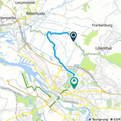 Ausfahrt durch Bremen