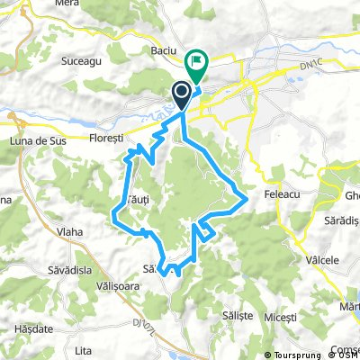 Long bike tour through Cluj-Napoca