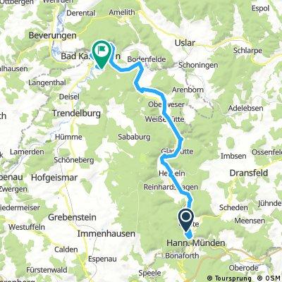 Weserradweg: Tag 1