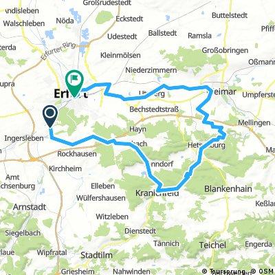 2017-04-02: Erfurt-Bischleben - Kranichfeld - Weimar - Erfurt Hbf