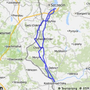 Cycling routes and bike maps in and around Szczecin Bikemap Your