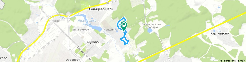 Brief bike tour through Московский