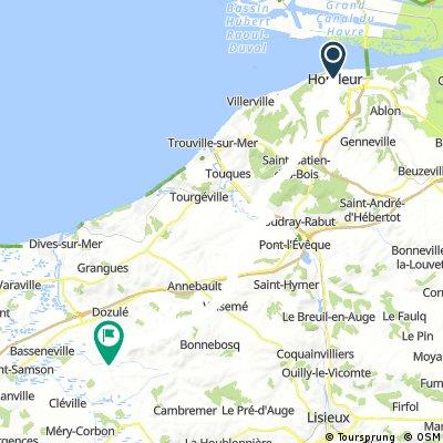 Day 1 - Honfleur to Beuvron-en-Auge