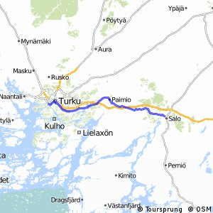 Cycling routes and bike maps in and around Salo Bikemap Your