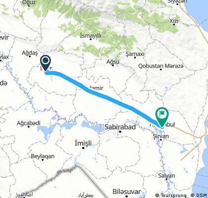 Ucar - Haciqabul ca. 126 km