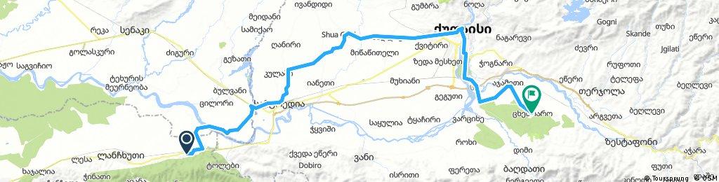 Kviani - Tskhentaro ca. 88 km