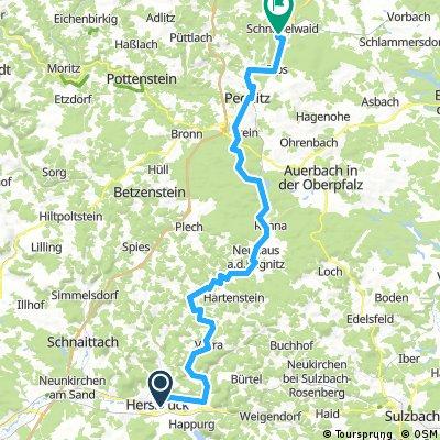 Hersbruck - Pegnitz - Schnabelwaid  1 von 4 Tagen