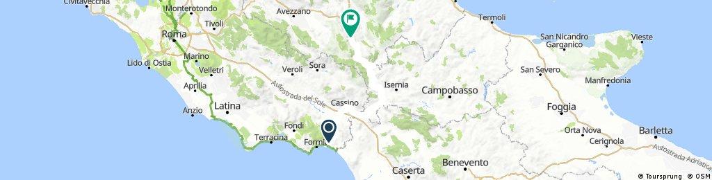 Spigno Saturnia TS2 - Scanno TS3 race across italy