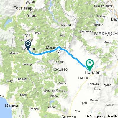 Kicevo-Prilep Race Road