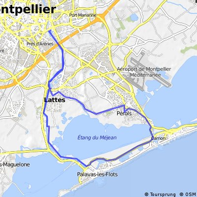 Cycling routes and bike maps in and around Montpellier Bikemap