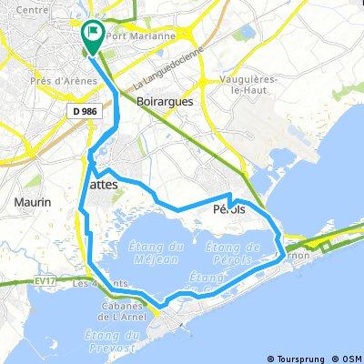 bike tour through Montpellier
