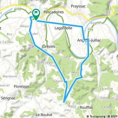 Short ride through Puy-l'Évêque