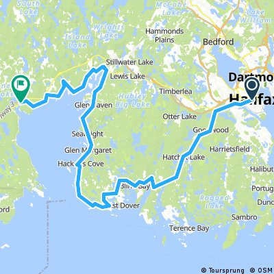 Halifax, NS to Hubbard, NS