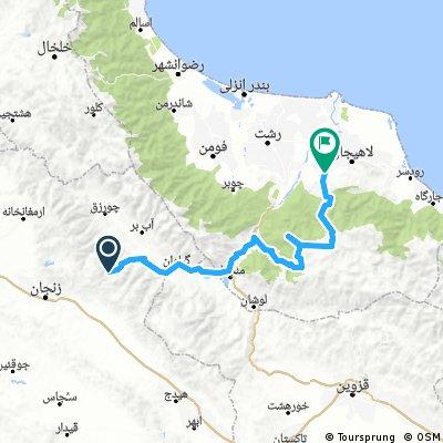 zanjan to north of iran