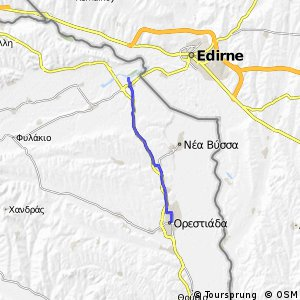 Cycling routes and bike maps in and around Edirne Province Bikemap