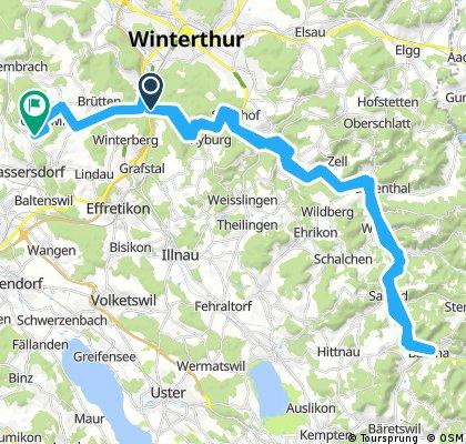 Lange Ausfahrt von Winterthur nach Nürensdorf