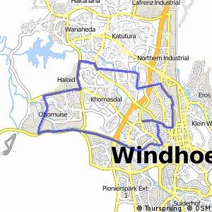 Cycling routes and bike maps in and around Windhoek Bikemap Your