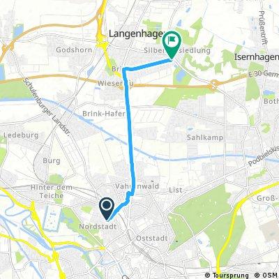 Kurze Radrunde von Hannover nach Langenhagen