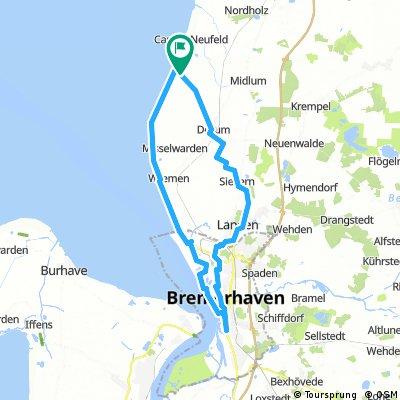 Neufeld - Dorum - Sievern - Langen - Bremerhaven - Wremen - Neufeld