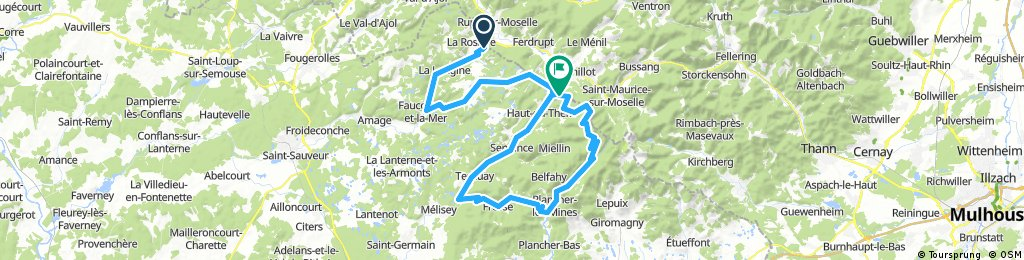 Tour de France route part 1 - moderate