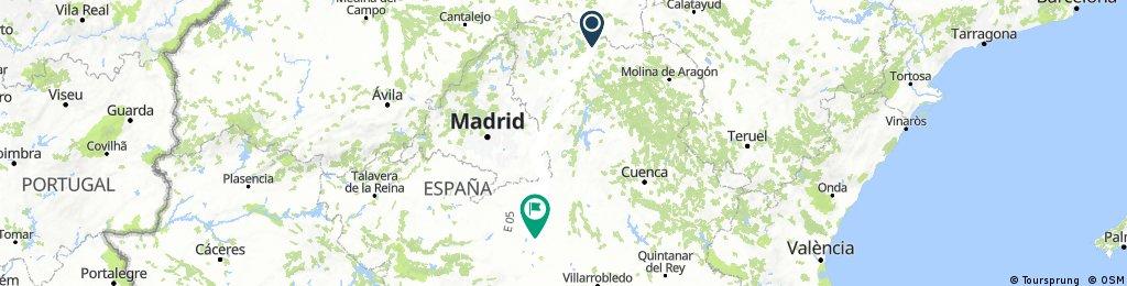 (8) Final Siguenza - La Villa de don Fadrique, 218km, 1020HM (Hotel)
