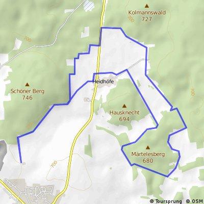 Heidhöfe - Mauertal - Loipe