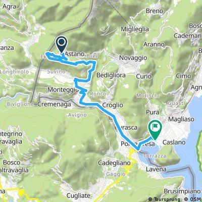 Radrunde von Astano nach Caslano