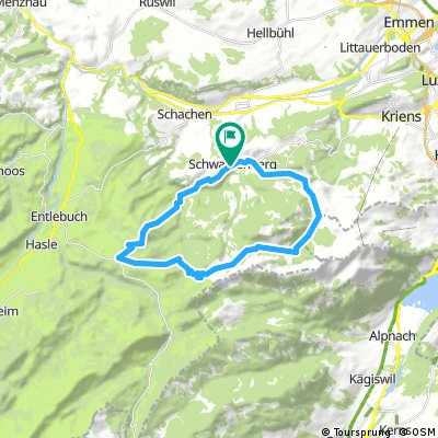 Schwarzenberg - Eigental - Finsterwald