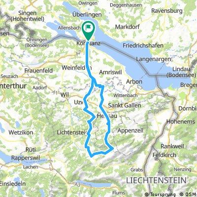 Kn.-Hemberg-Schwägalp-Gossau-Kn.