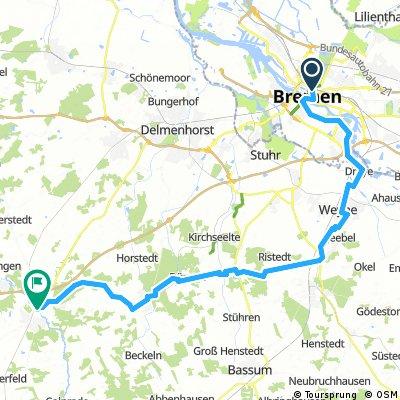 Lange Ausfahrt von Bremen nach Wildeshausen