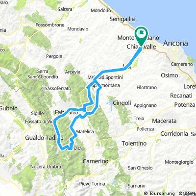 Poggio San Romualdo,Borgo Tufico,Fabriano,Cancelli ,Fiuminata,passo della Morca ,Esanatoglia,Collamato,Cerreto d'Esi,Monte San Vicino
