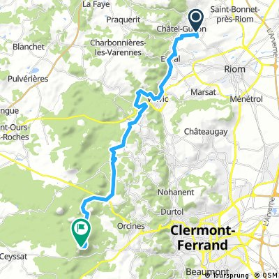 Chatel Guyon To Puy de Dome