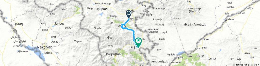 10t - za Goris- Kapan (64 km, 1570 m)