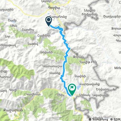10mEm - za Goris - Kapan (59 km, 1520 m)