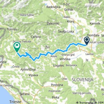 Ljubljana-Smrečje-Hleviše-Dole-Idrija-Bela-Krkovše-Škrbina-Lokve