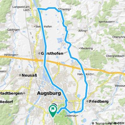 E-Bike Univiertel Augsburg, Friedberg, Rehling