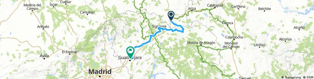 Medinaceli - Guadalajara por el Camino del Cid