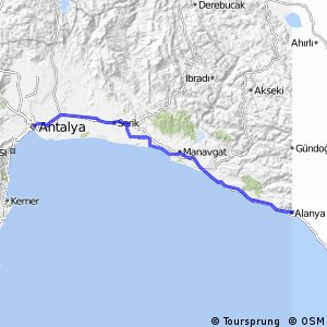 Cycling routes and bike maps in and around Alanya Bikemap Your