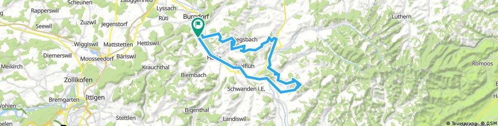 Lange Radrunde durch Oberburg