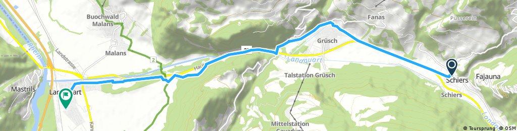 Schiers - Landquart 12 km 140 hm