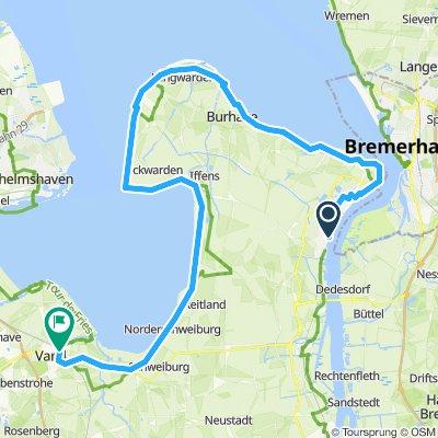 Nordsee - Nordenham bis Varel