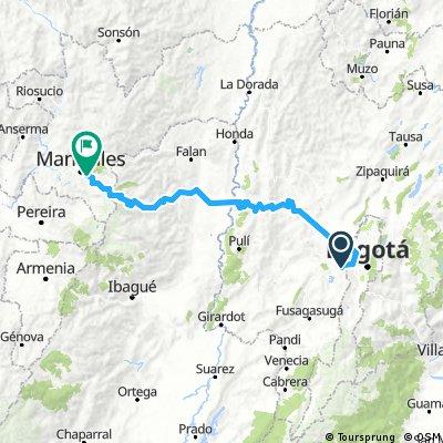 Bogota-Manizales (Via Murillo y PNN)